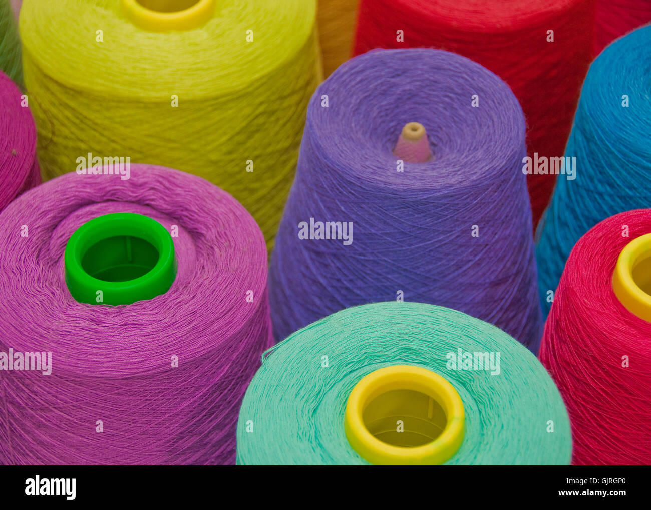 production thread textile - Stock Image