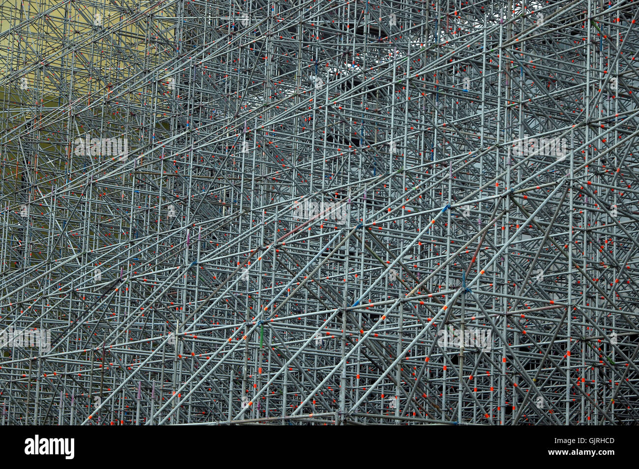 scaffold scaffolding metal - Stock Image