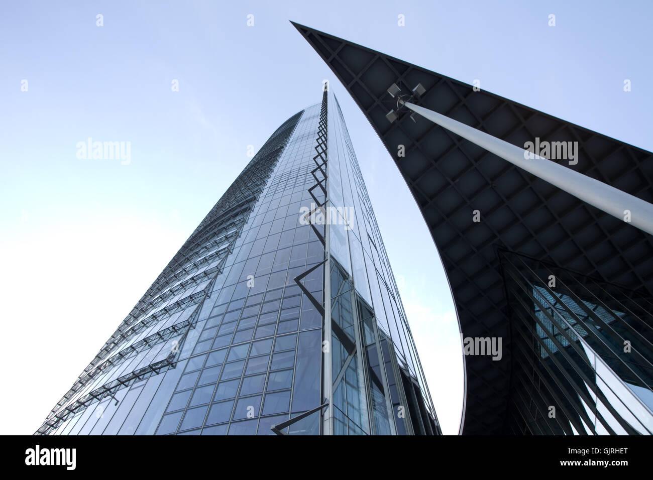 hochhaus posttower - Stock Image
