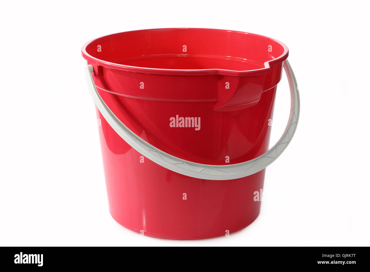 bucket plastic synthetic material - Stock Image