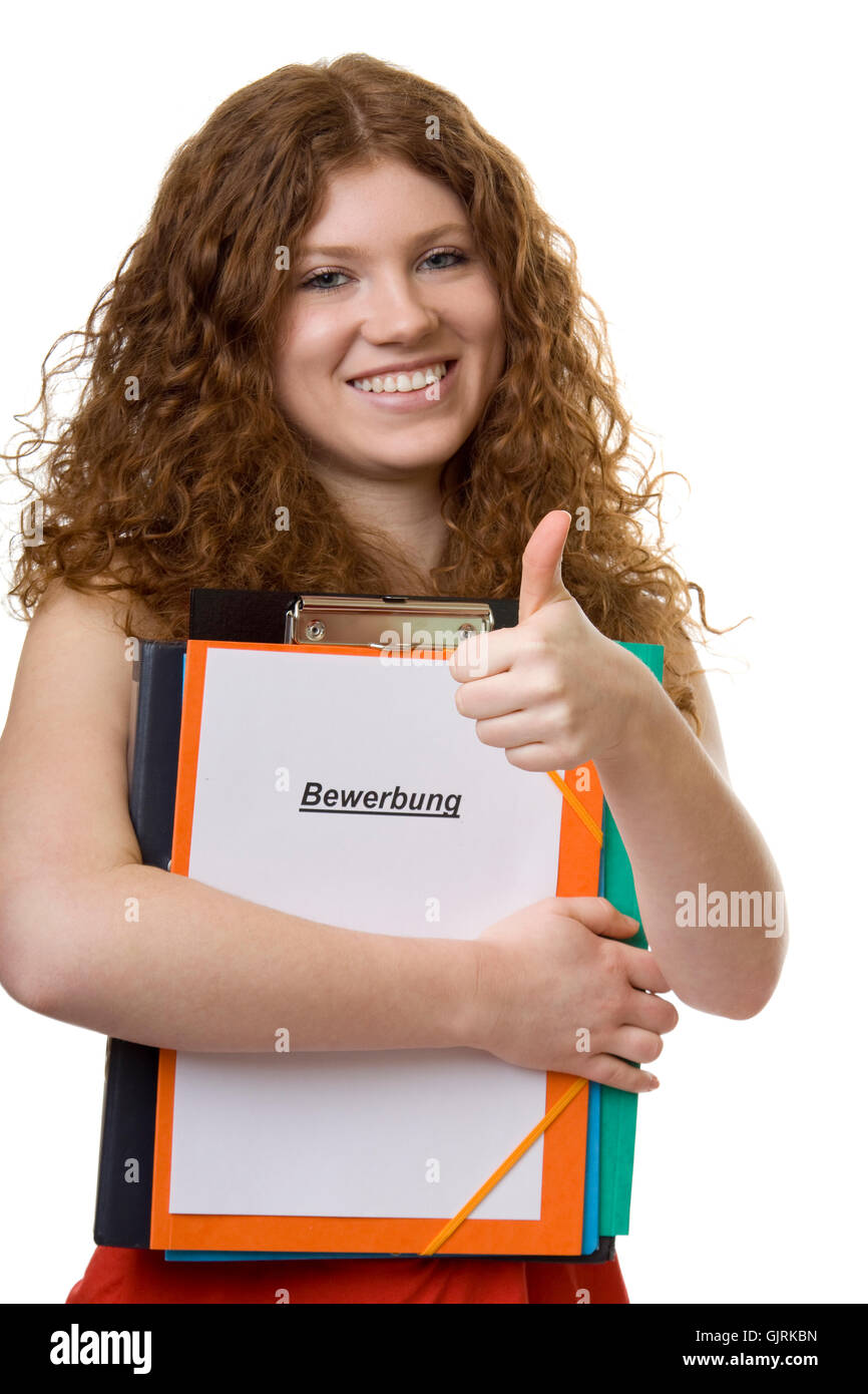 application teenager positive - Stock Image