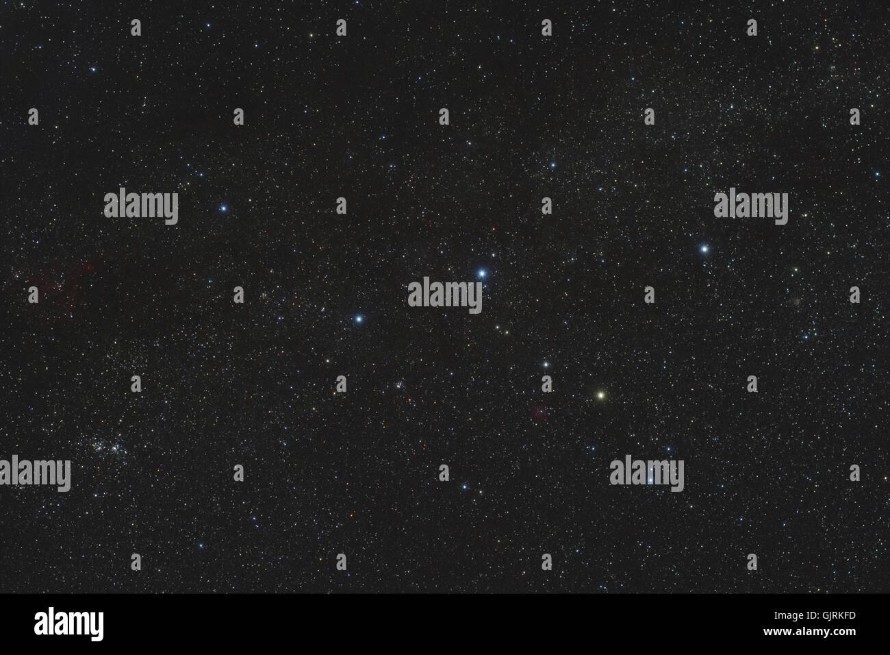 starry sky stars asterisks - Stock Image