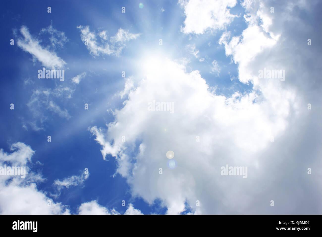 blue shine shines - Stock Image