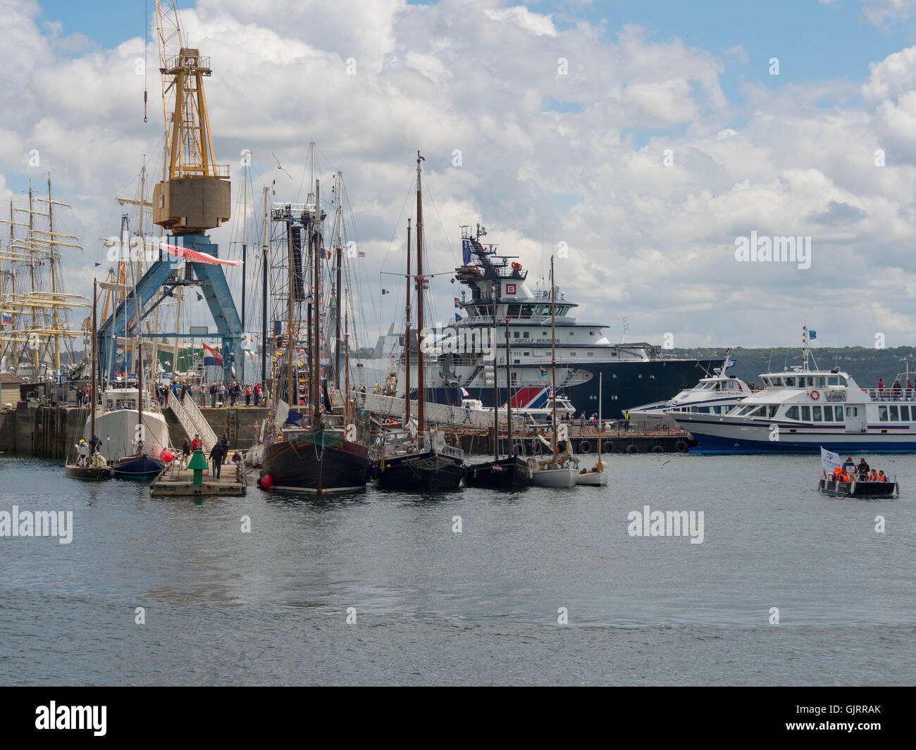Brest: the commercial port - Stock Image