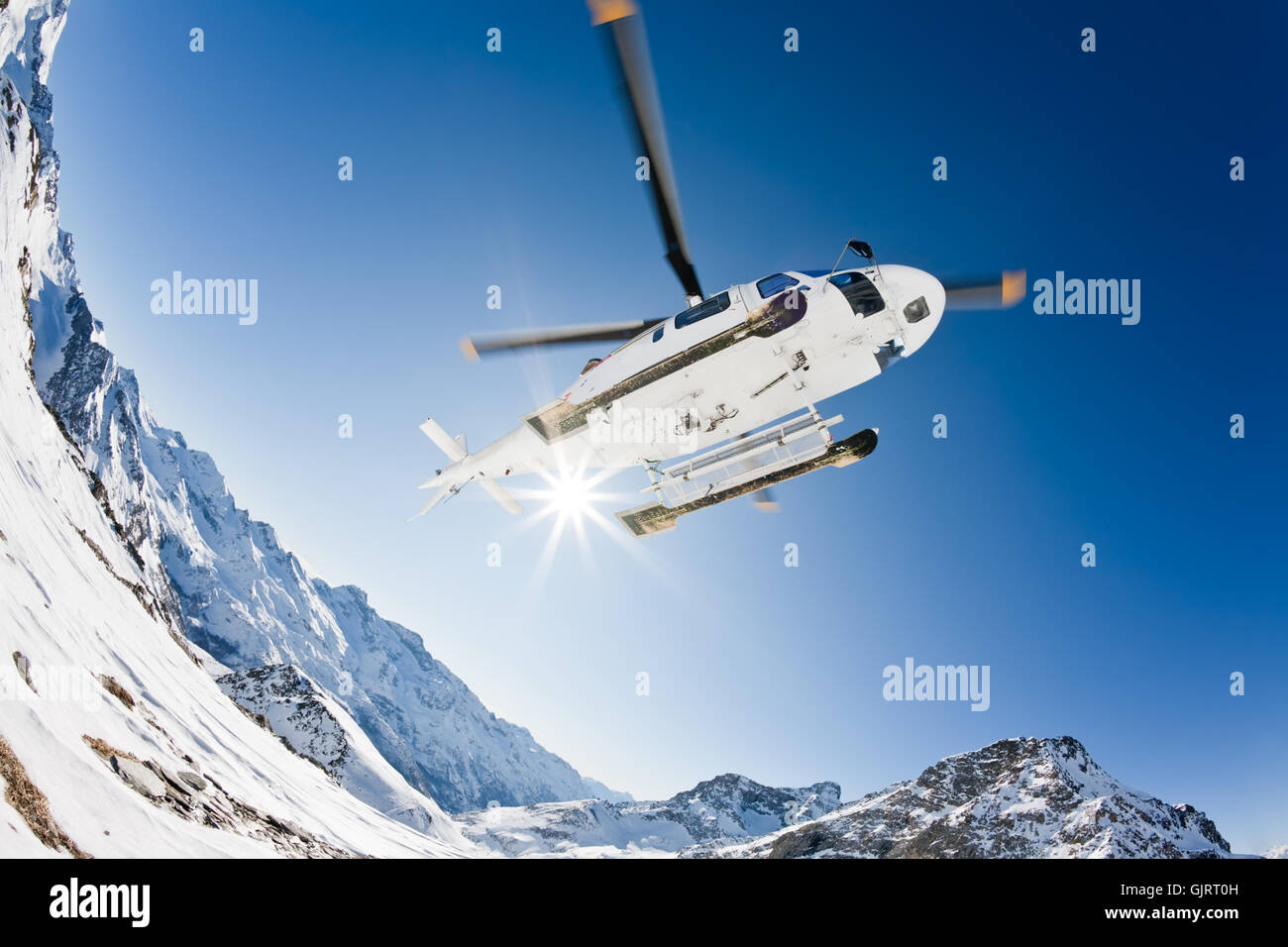 flight blades helicopter - Stock Image