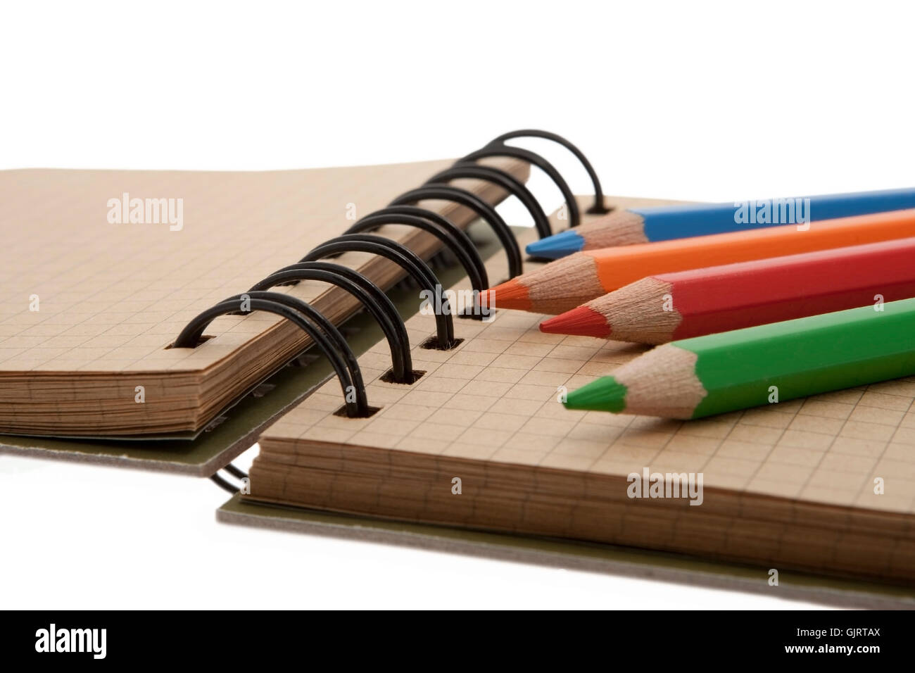 scratchpad colored pencils scratchpad - Stock Image