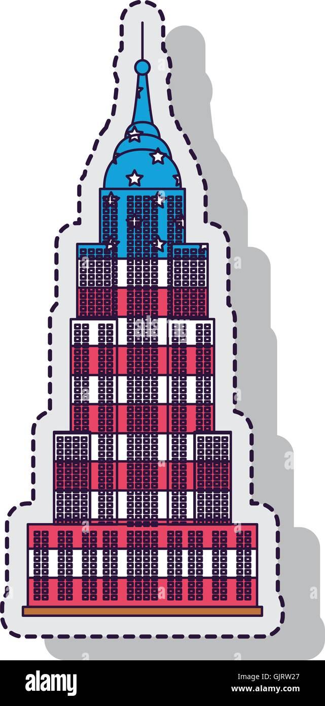empire state isolated icon vector illustration design - Stock Vector