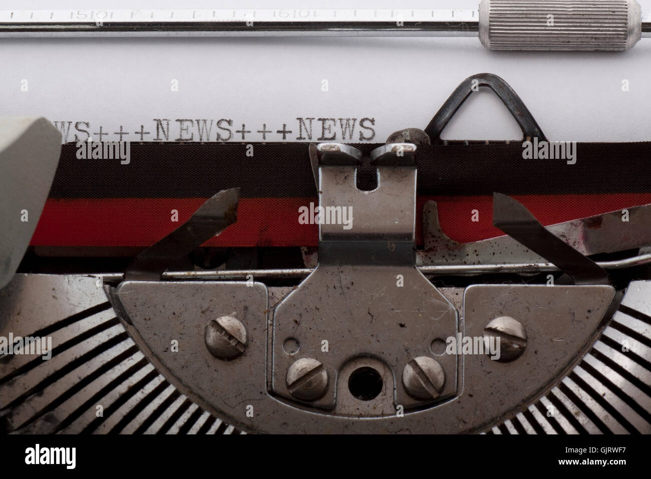 news,headline with typewriter - Stock Image