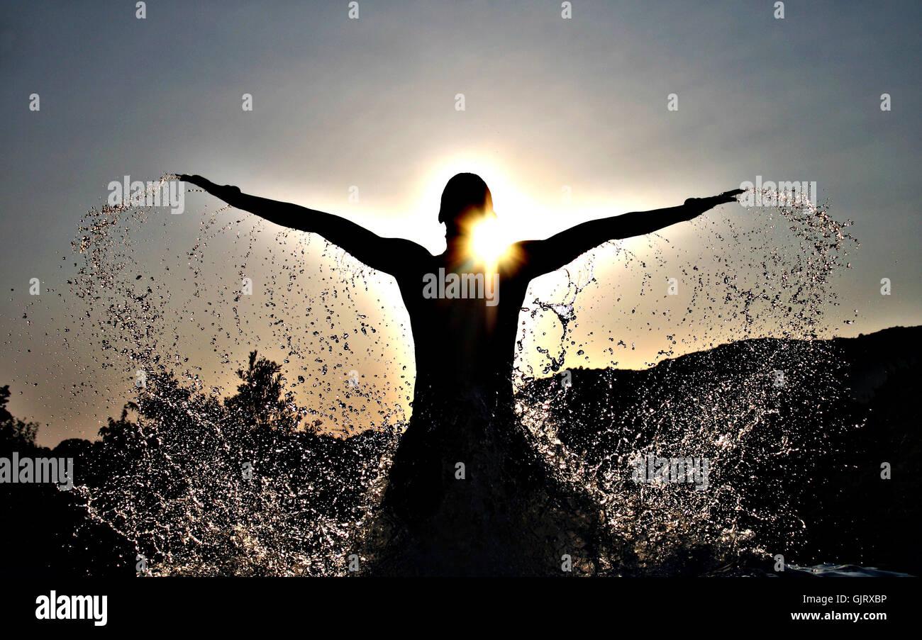 sunset elegance emerge - Stock Image