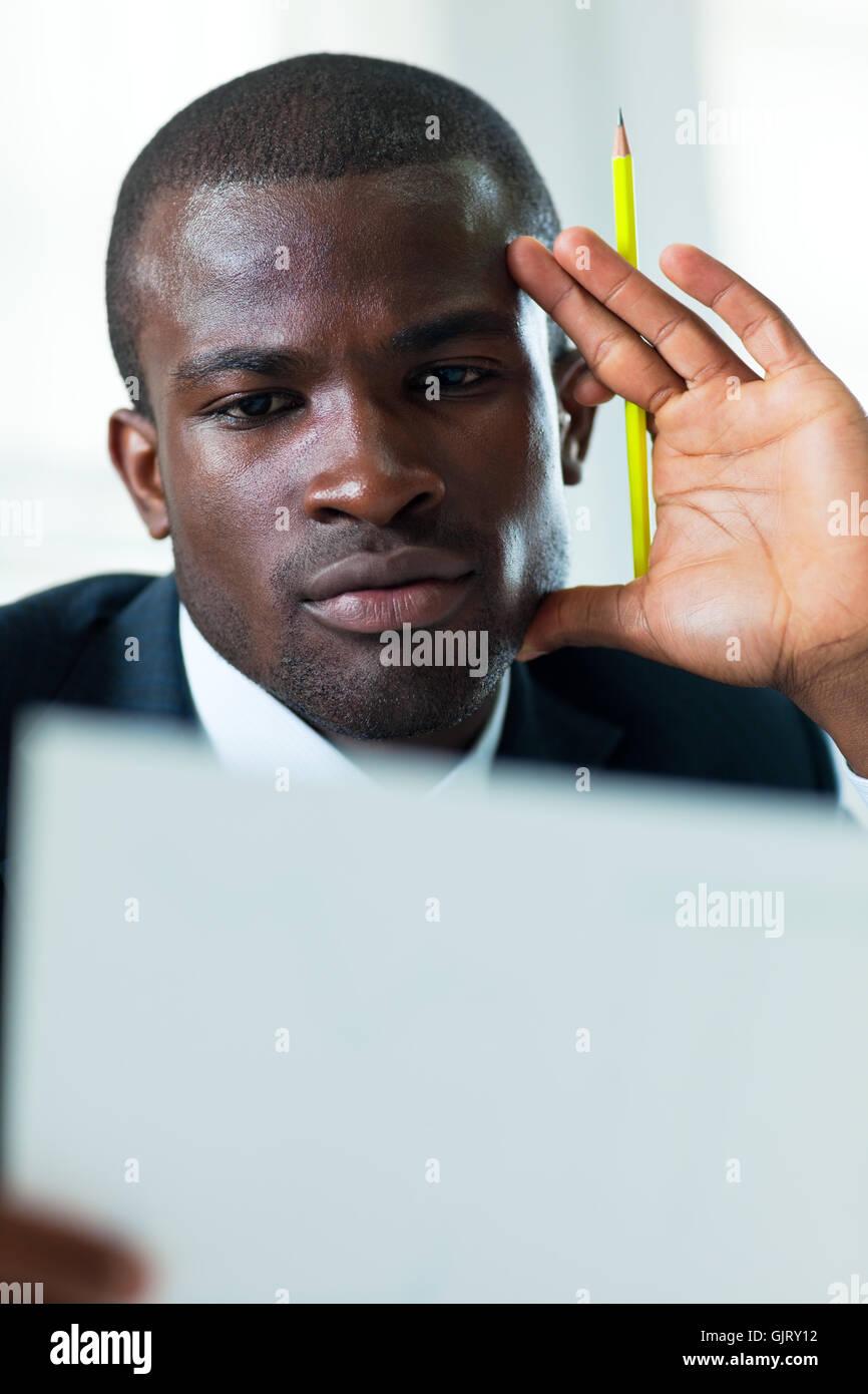 desk business man businessman - Stock Image