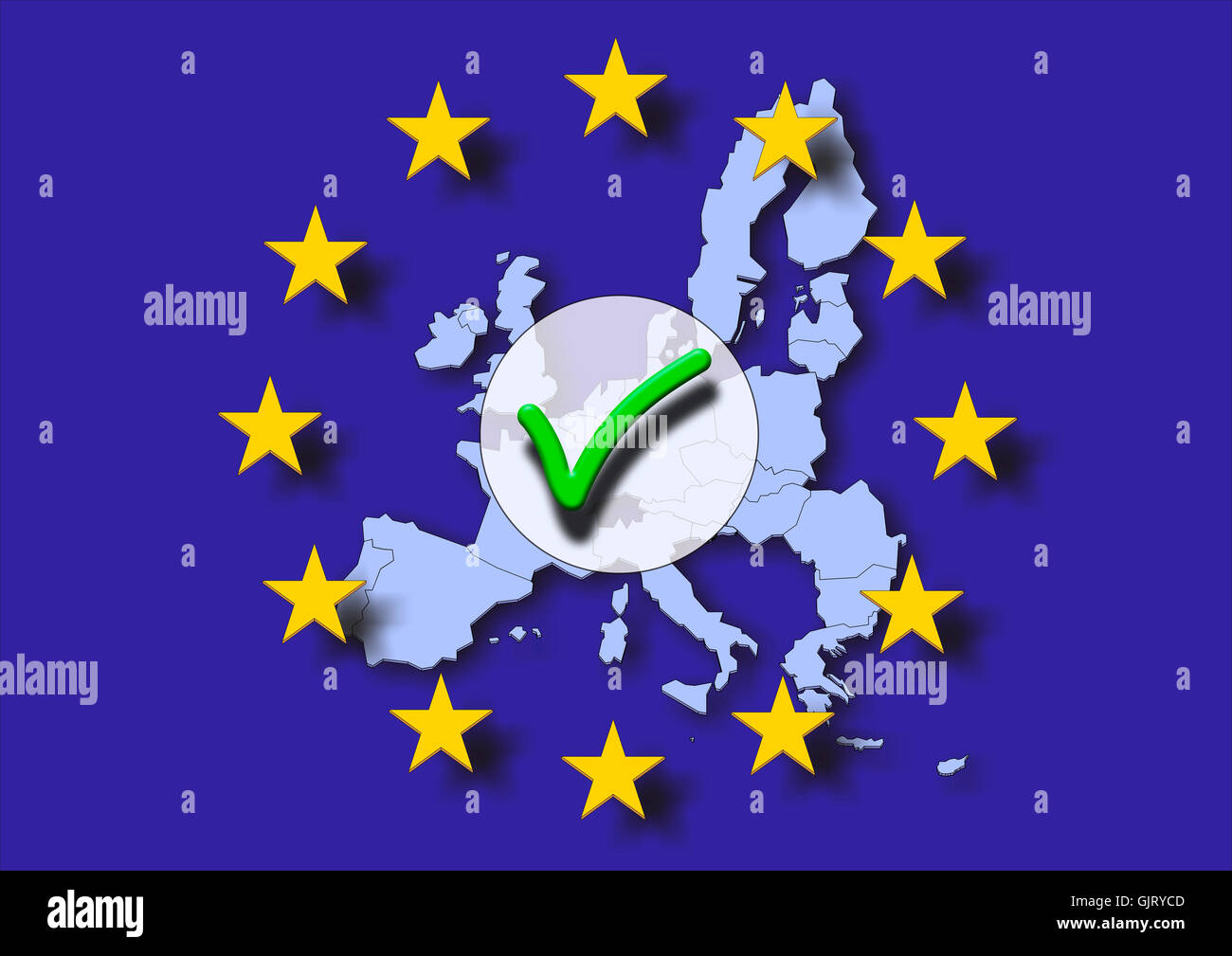 europe European Union election - Stock Image