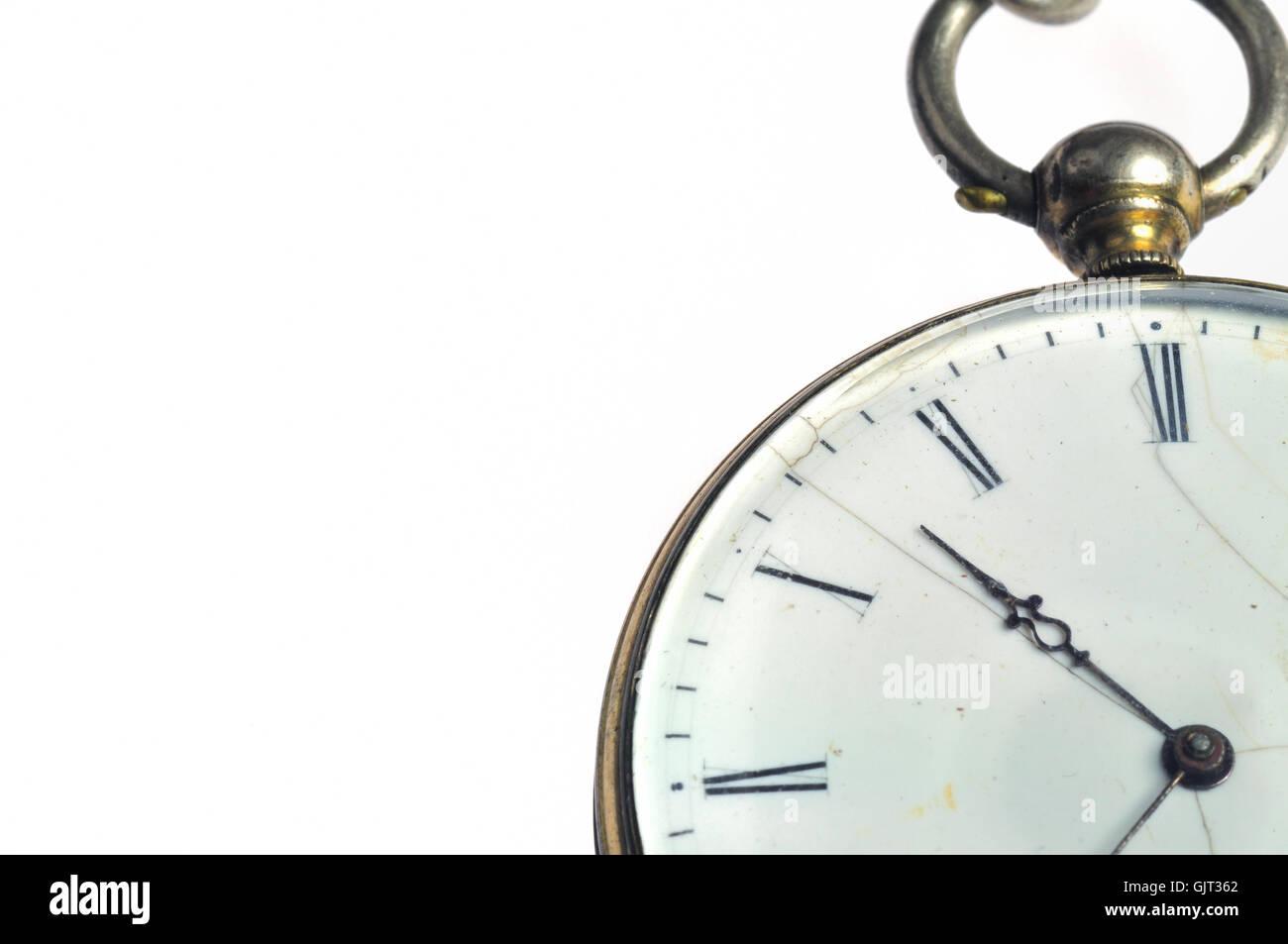 detail antique clock - Stock Image