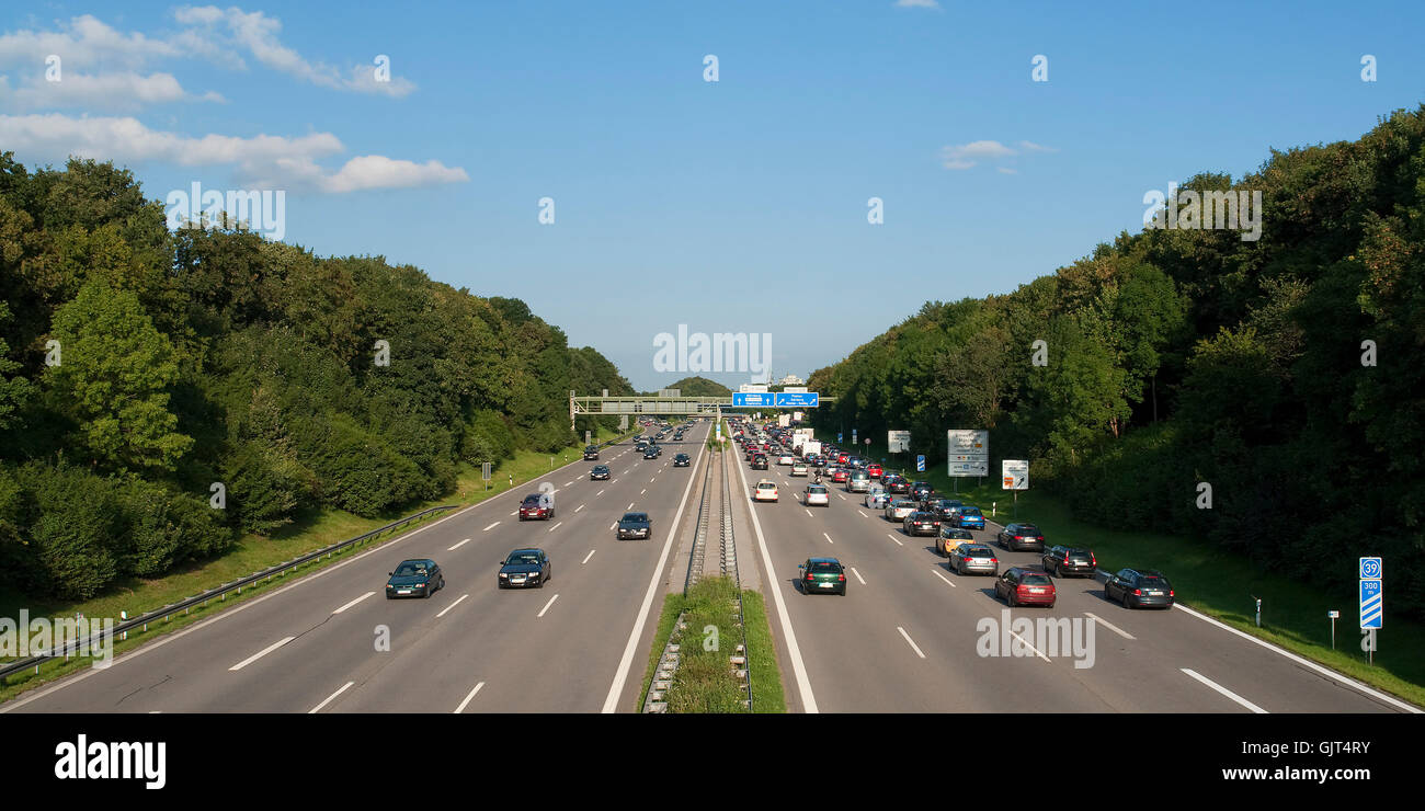 german motorways - Stock Image