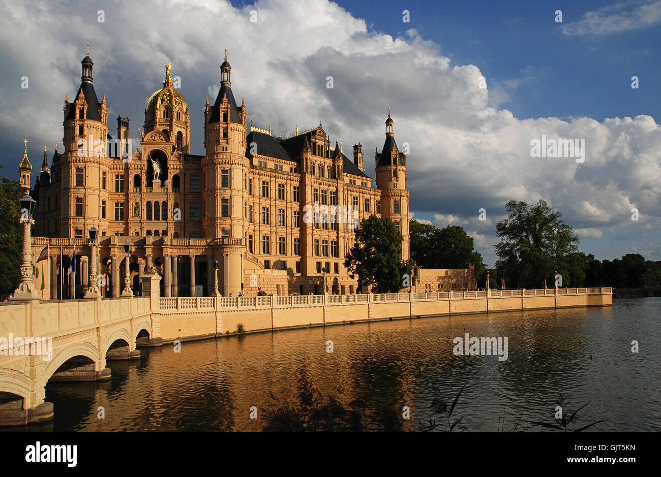 story building chateau - Stock Image