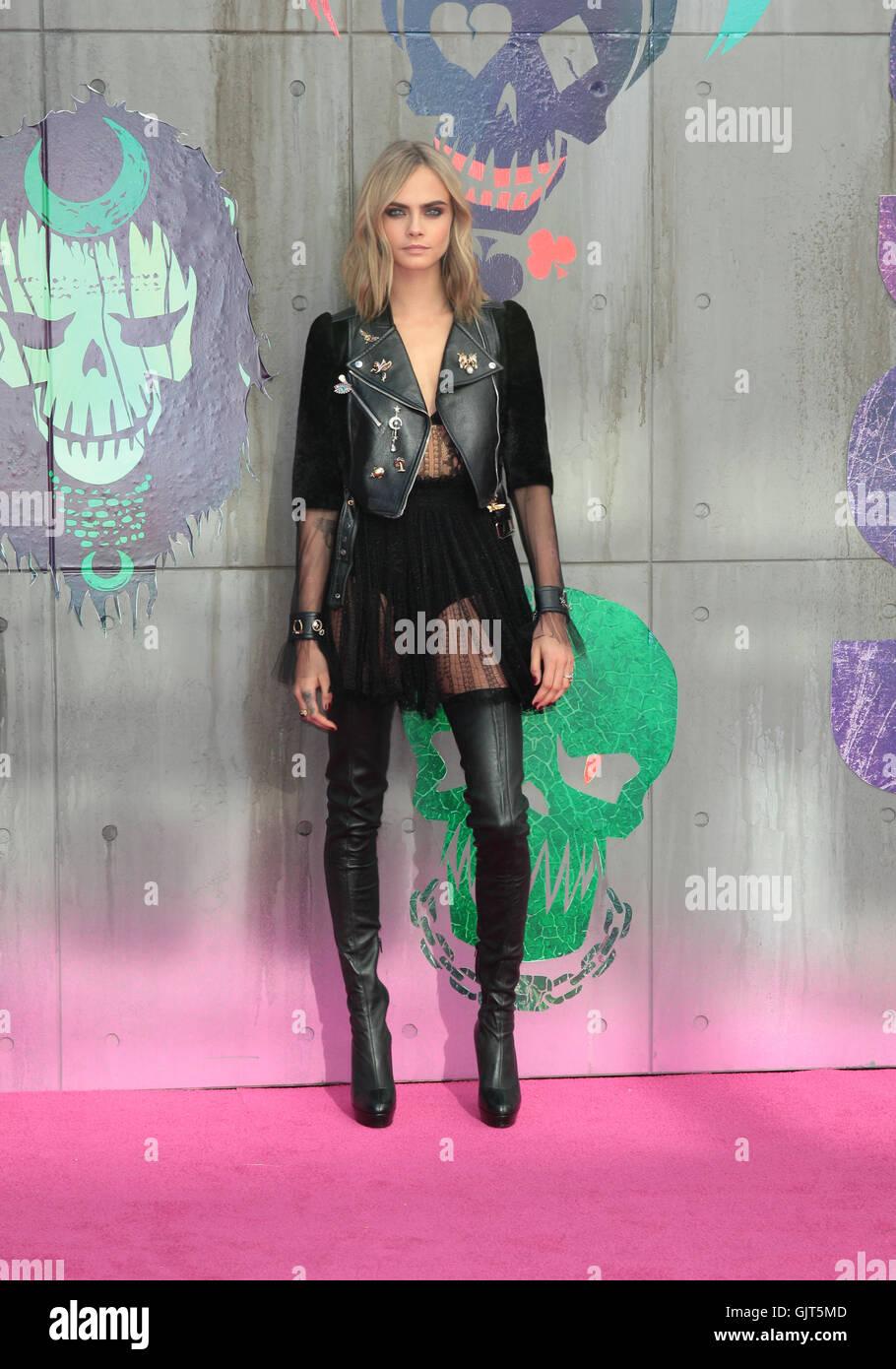 Cara Delevingne Attends The Suicide Squad Film Premiere London