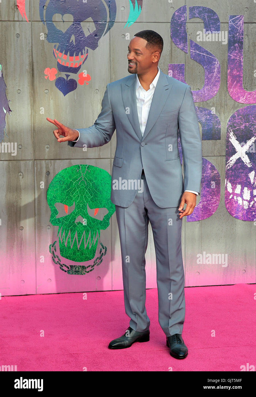 Will Smith attends the Suicide Squad film premiere, London, UK - 03 Aug 2016 - Stock Image