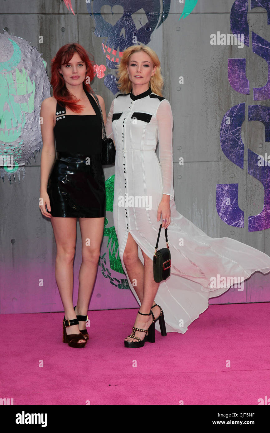 Georgia May Jagger and Clara Paget attend the Suicide Squad film premiere, London, UK - 03 Aug 2016 - Stock Image