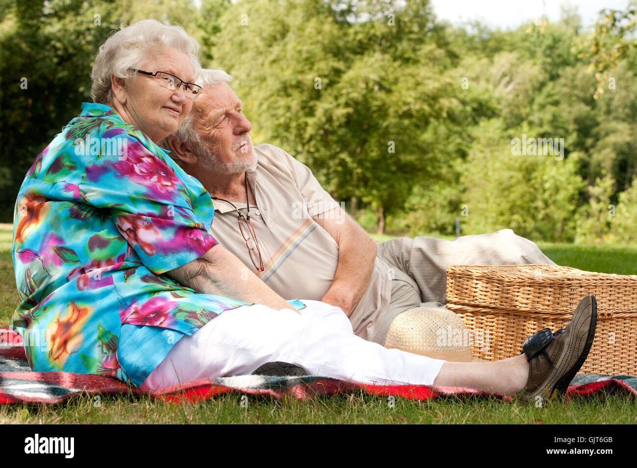 delighted unambitious enthusiastic - Stock Image