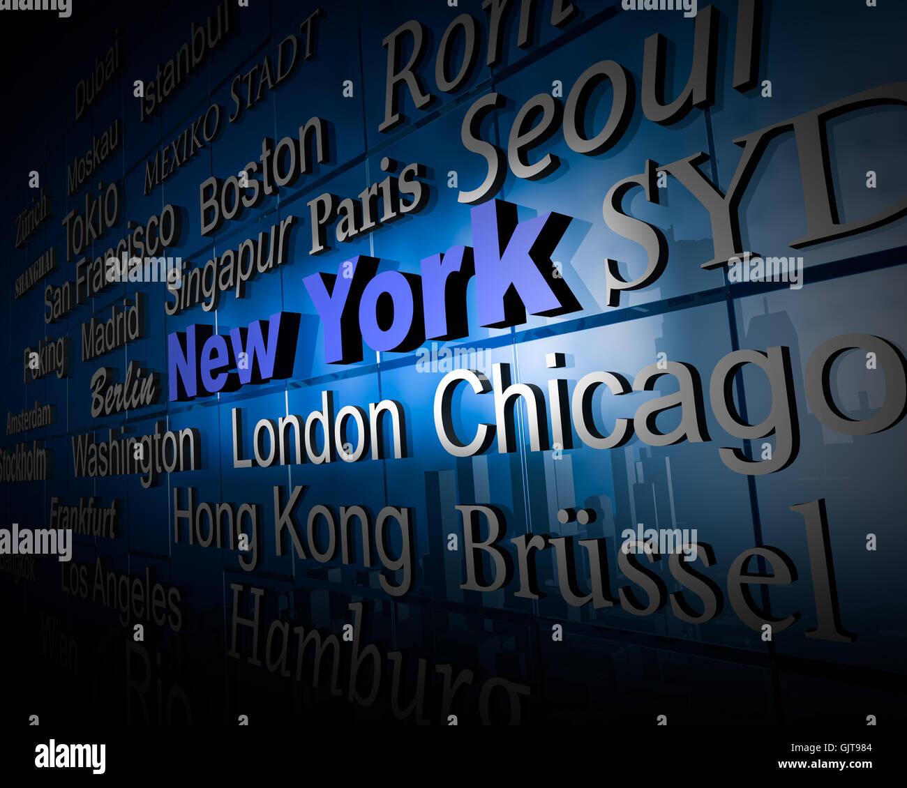 weltstadt3 new york - Stock Image
