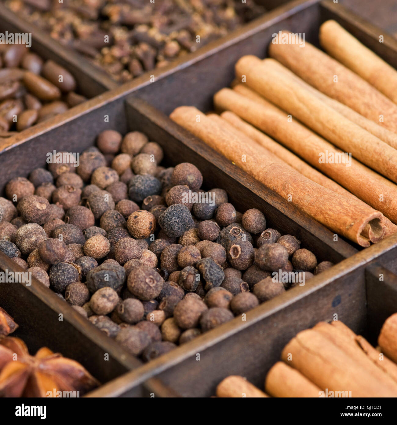 spice assortment pimento - Stock Image