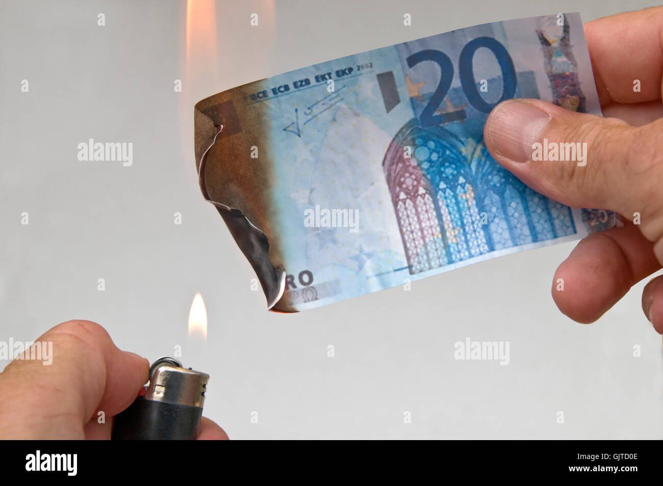 symbolic euro symbolism - Stock Image