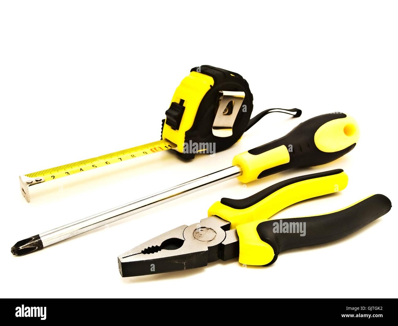 tools meter screwdriver - Stock Image