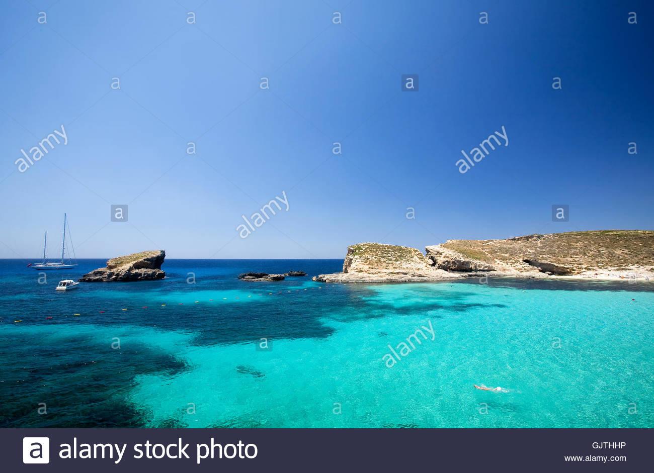 blue beautiful beauteously - Stock Image