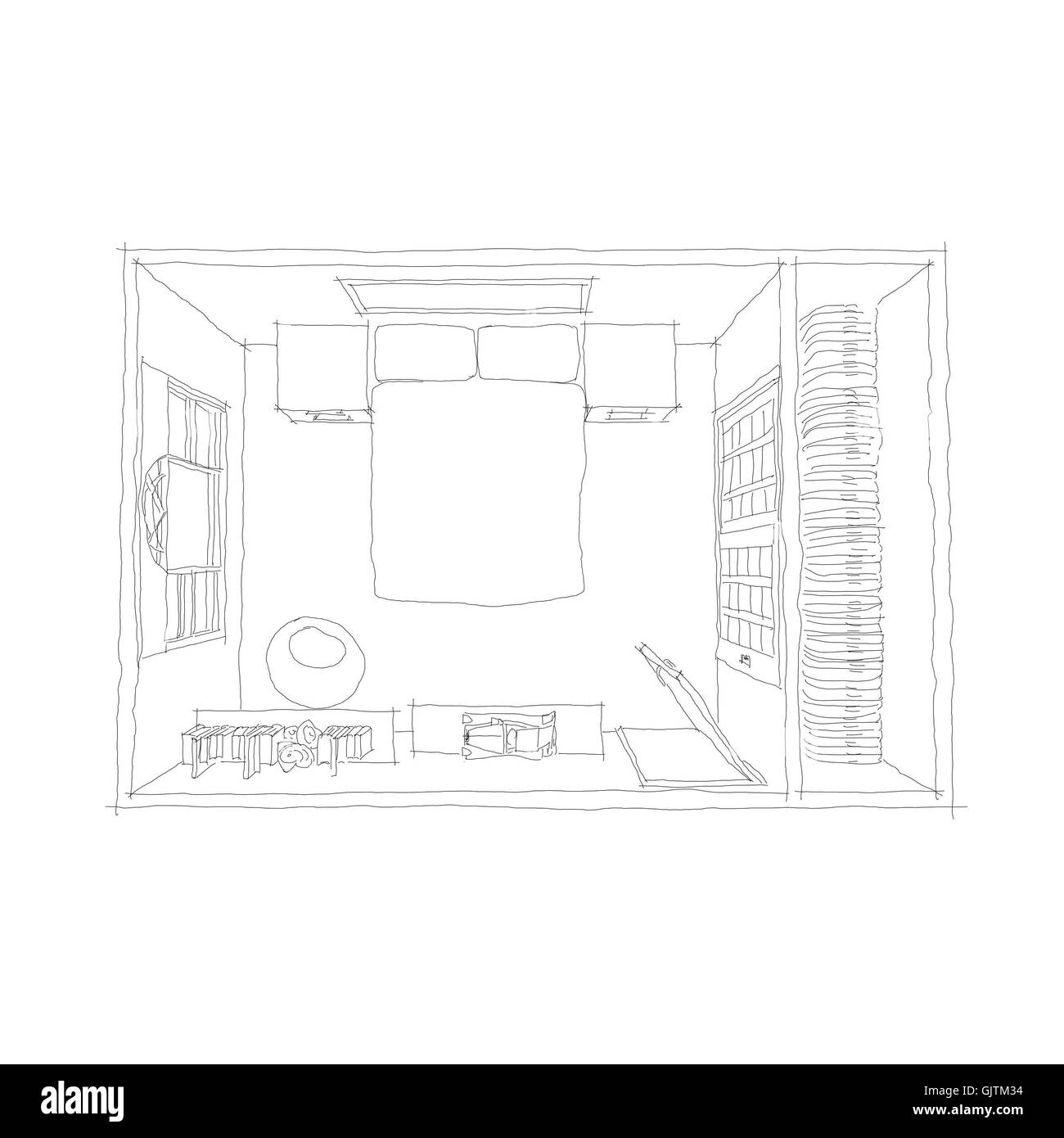 Master Bedroom Cut Out Stock Images Pictures Alamy