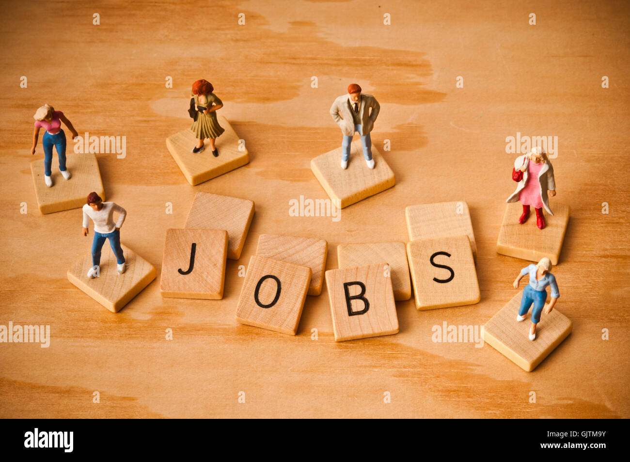 job seeking and unemployment concept - Stock Image