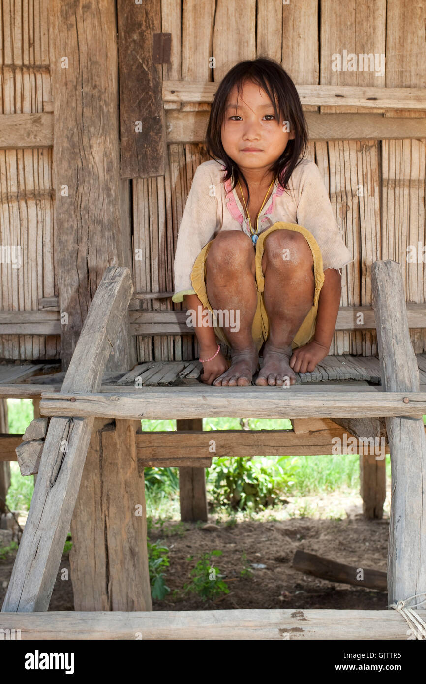 asia poor miserable - Stock Image
