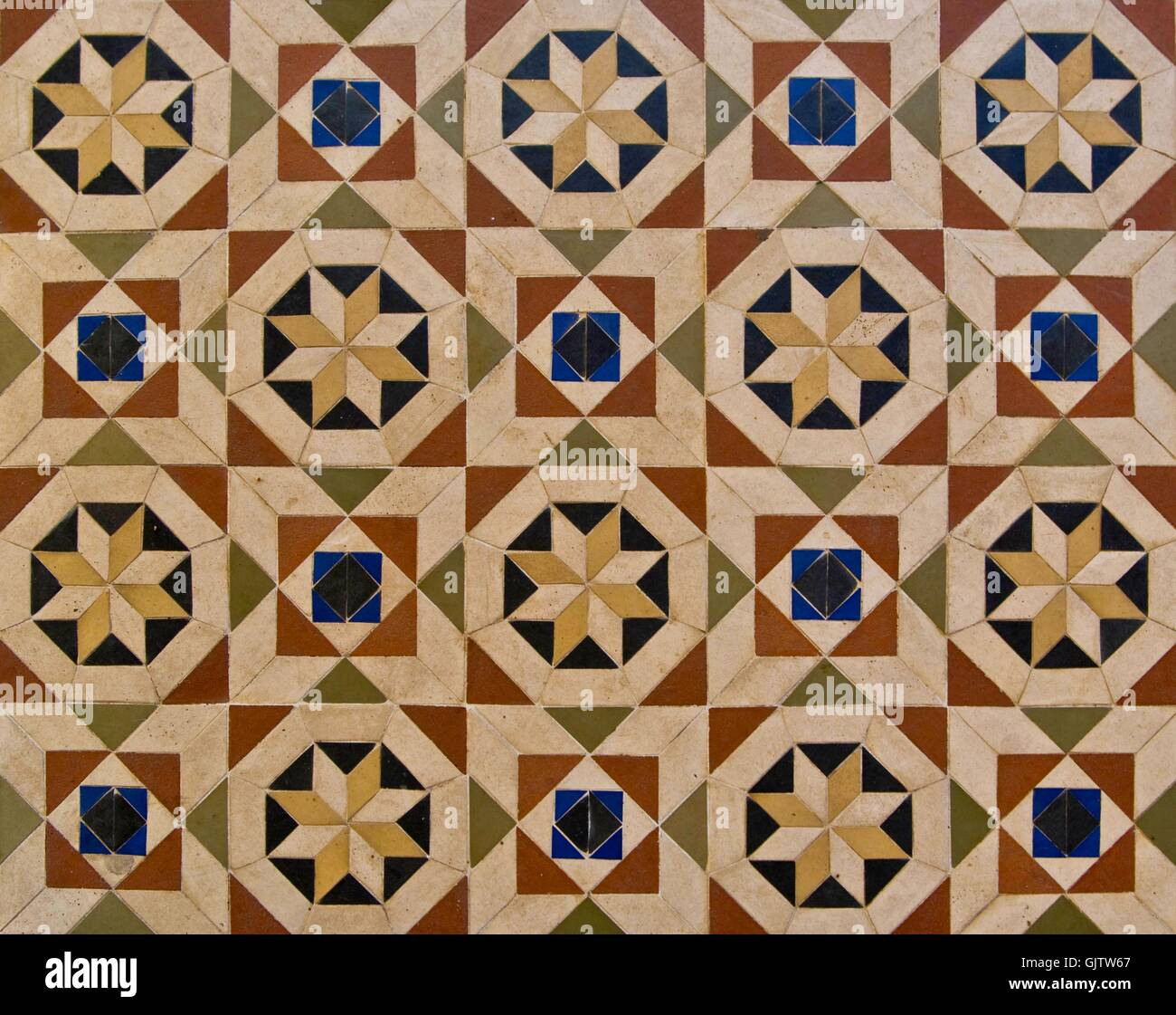 floor with oriental patterns - Stock Image