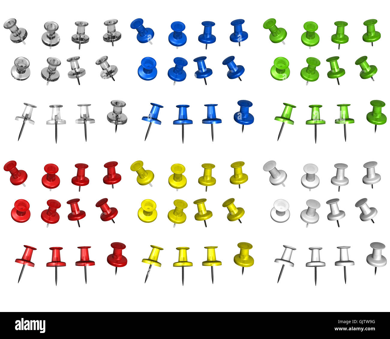 multicolored pins - Stock Image