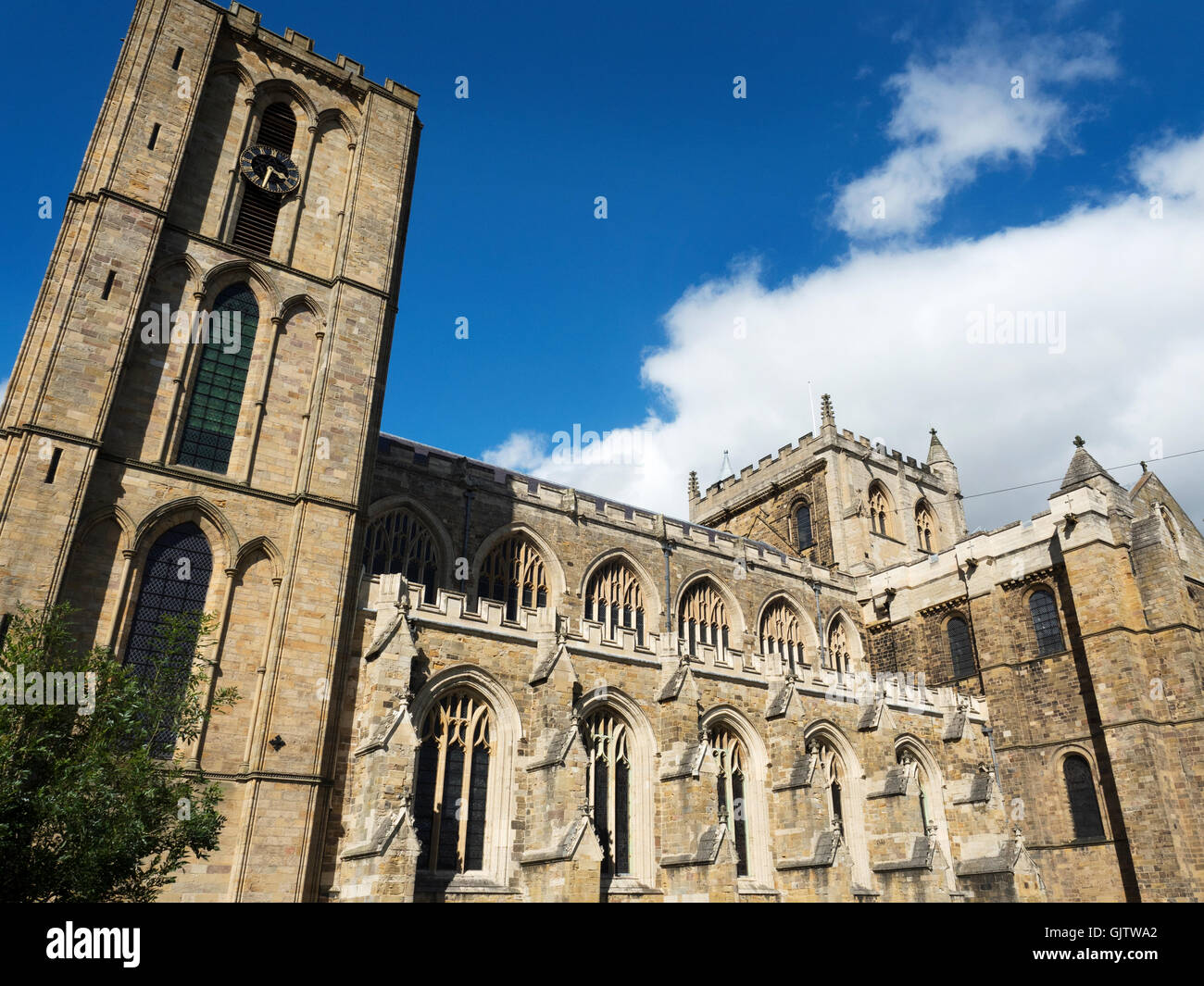 Early English Gothic And Norman Style Architecture At Ripon Cathedral North Yorkshire England