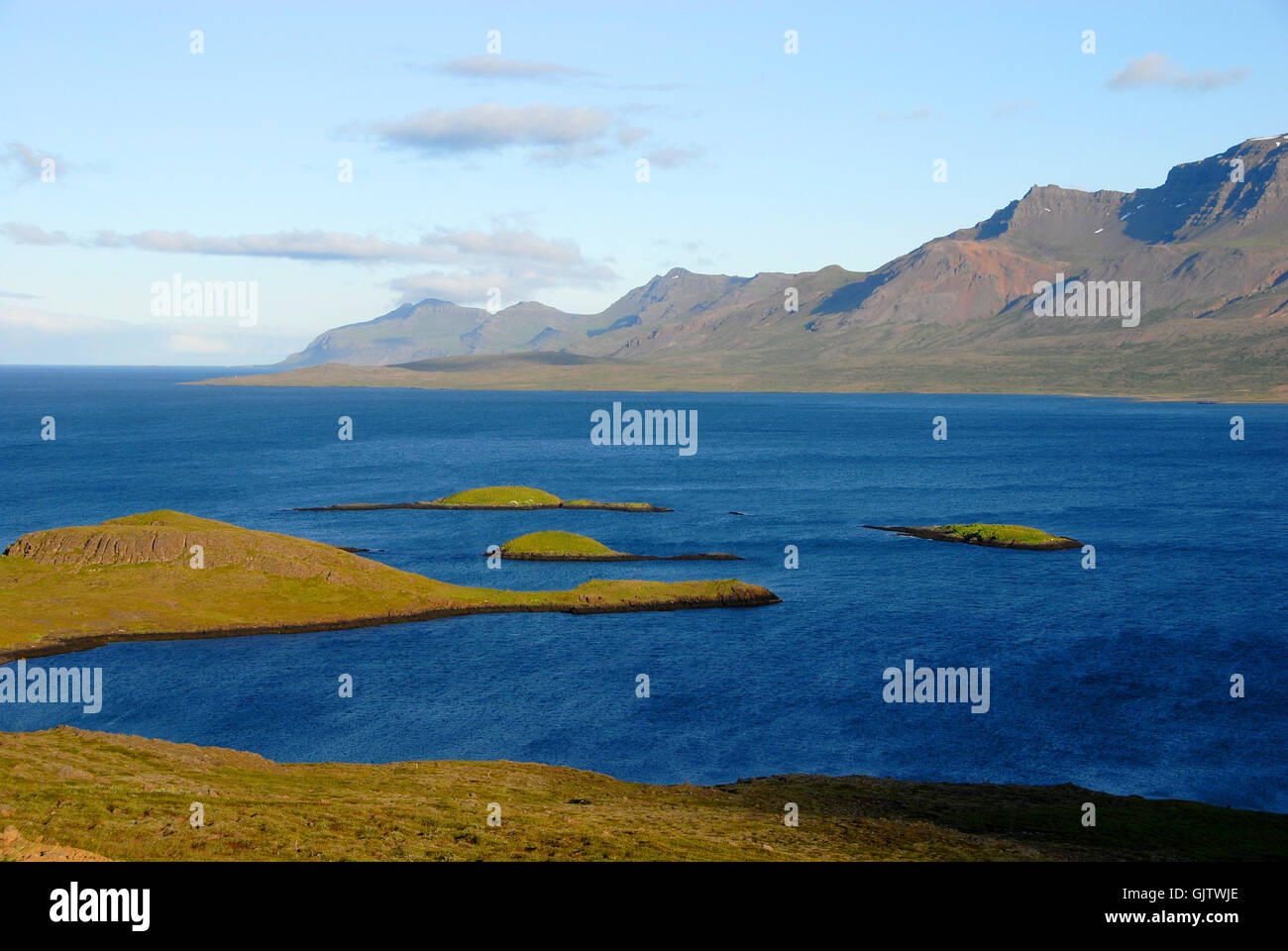 east fjords iceland - Stock Image