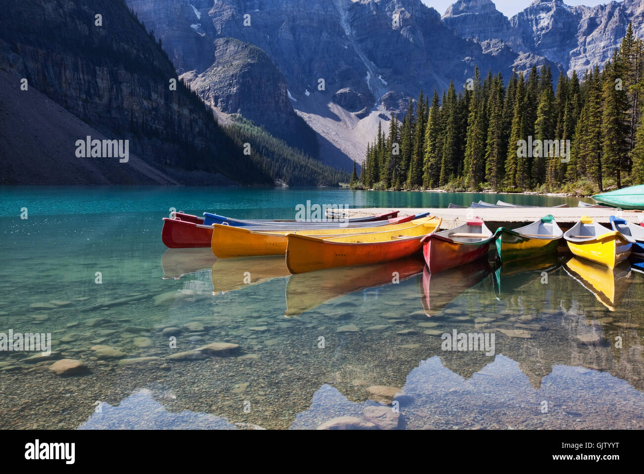 fresh water lake inland water Stock Photo