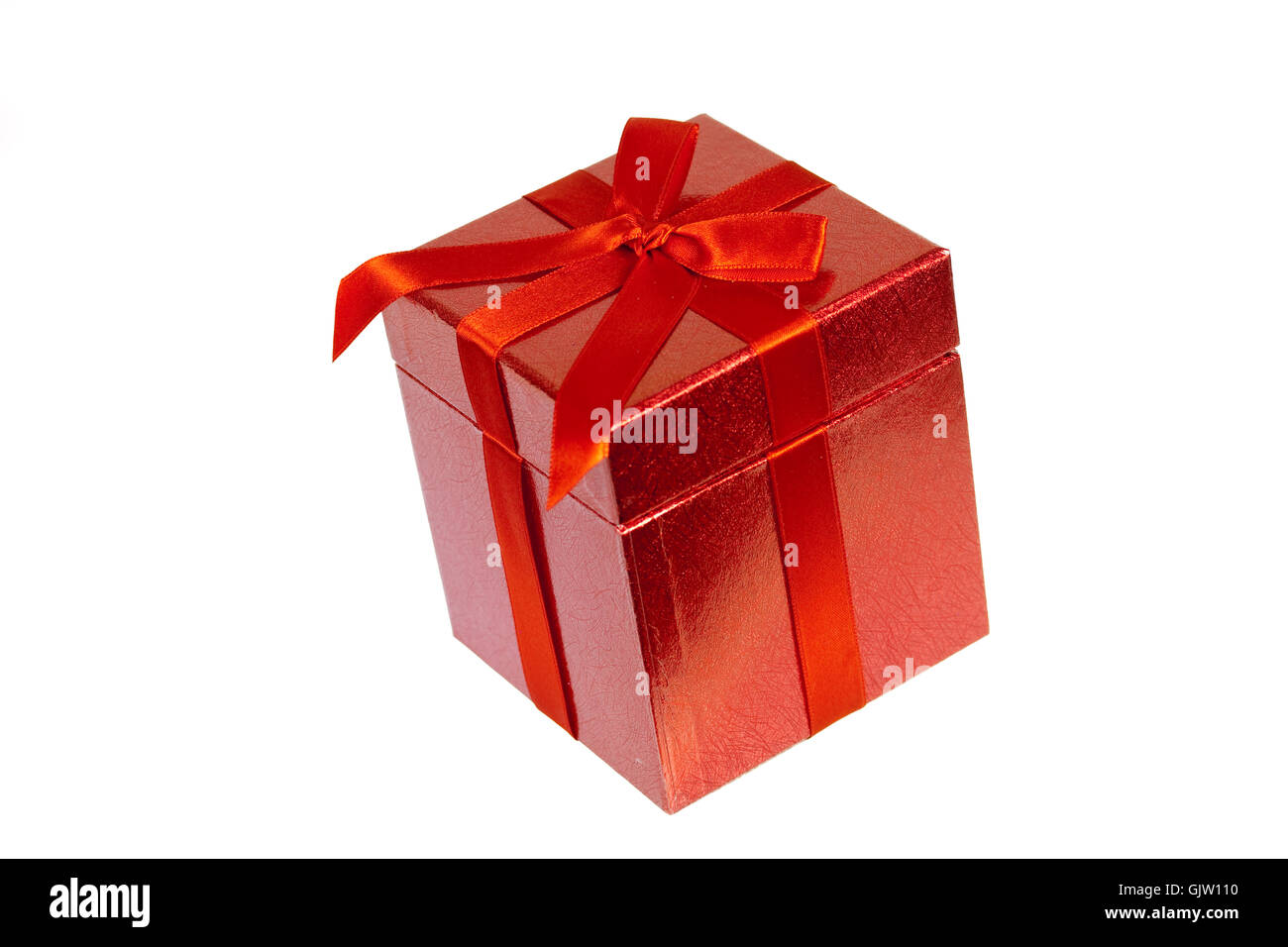 gift with red bow,free frame Stock Photo