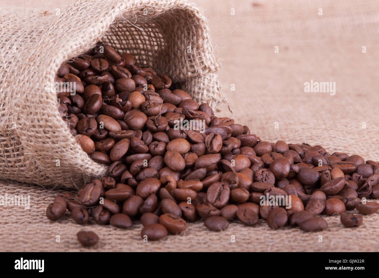 coffee coffee bean bag Stock Photo