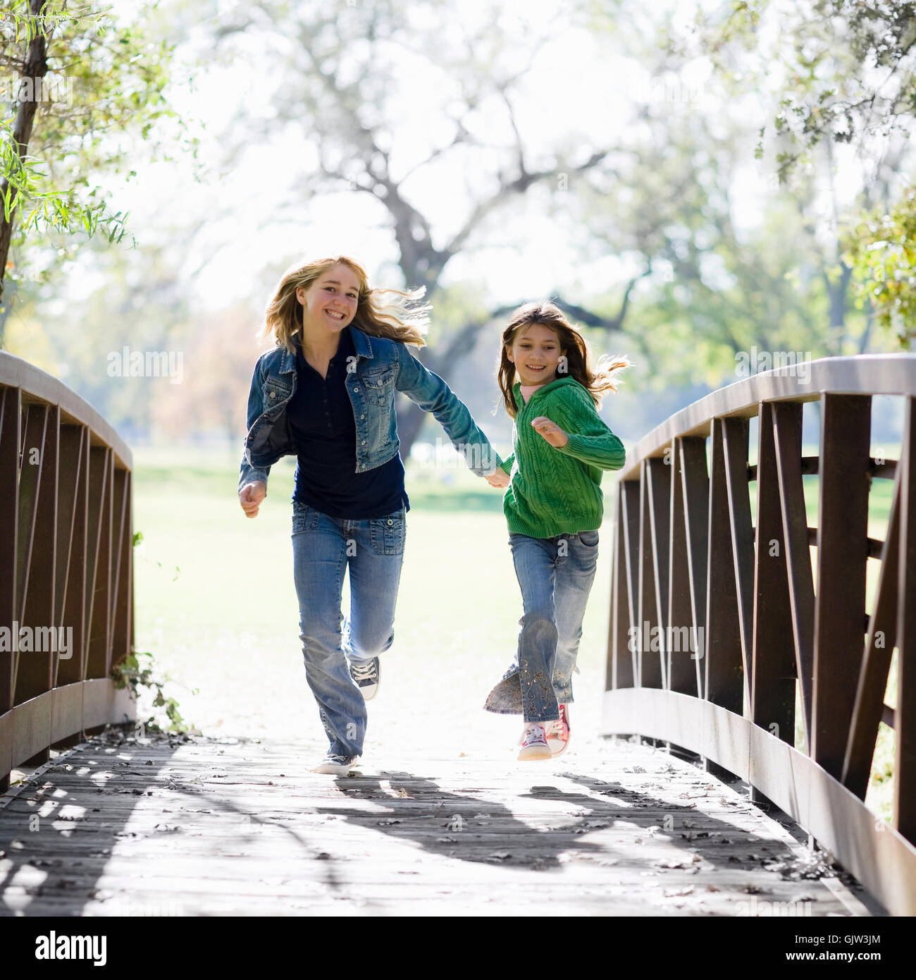 sisters delighted unambitious - Stock Image