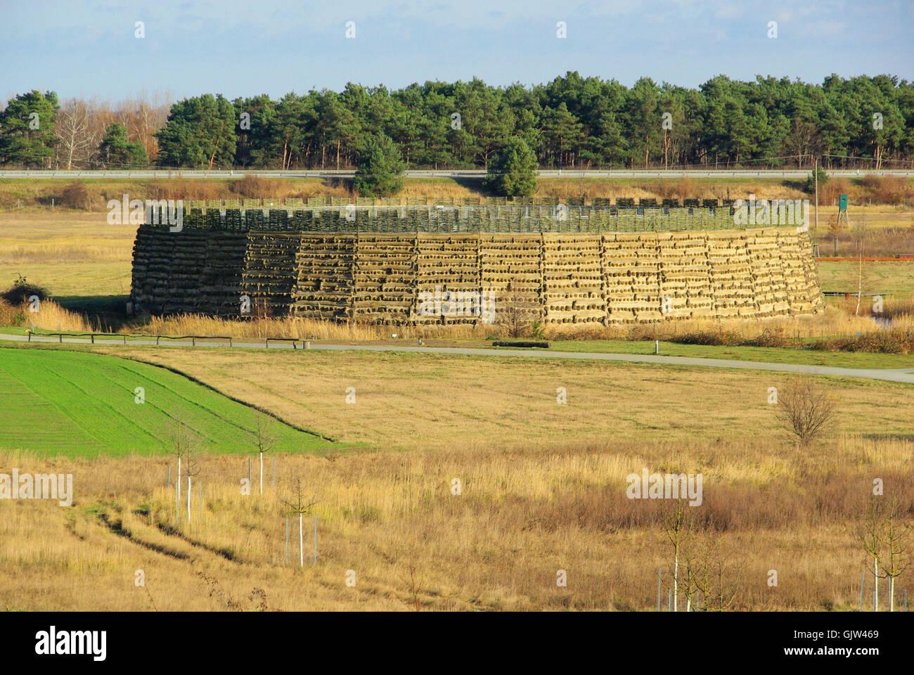 raddusch slavic fort - raddusch slavic fort 05 - Stock Image