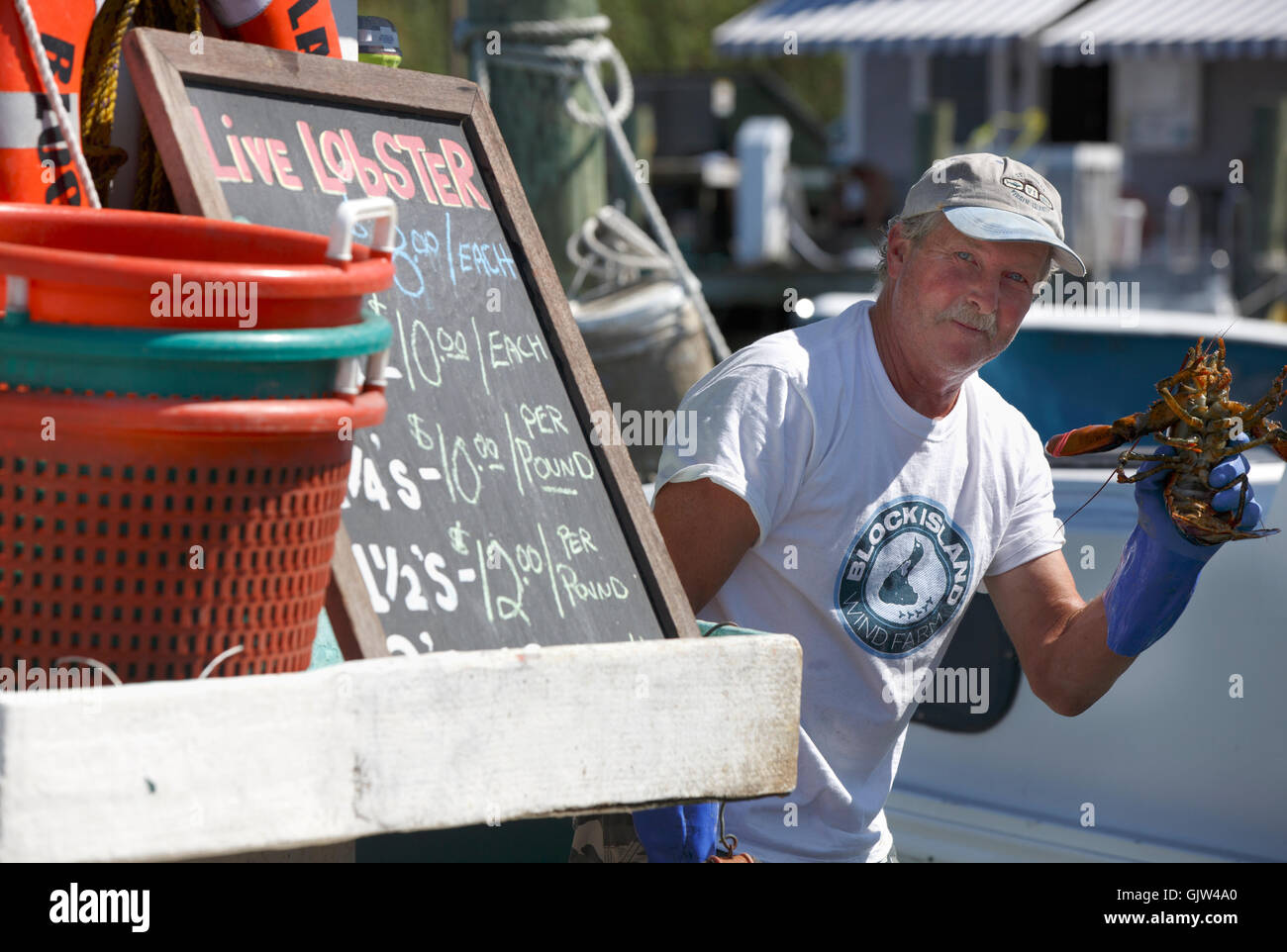 Lobsterman, Block Island, Rhode Island - Stock Image