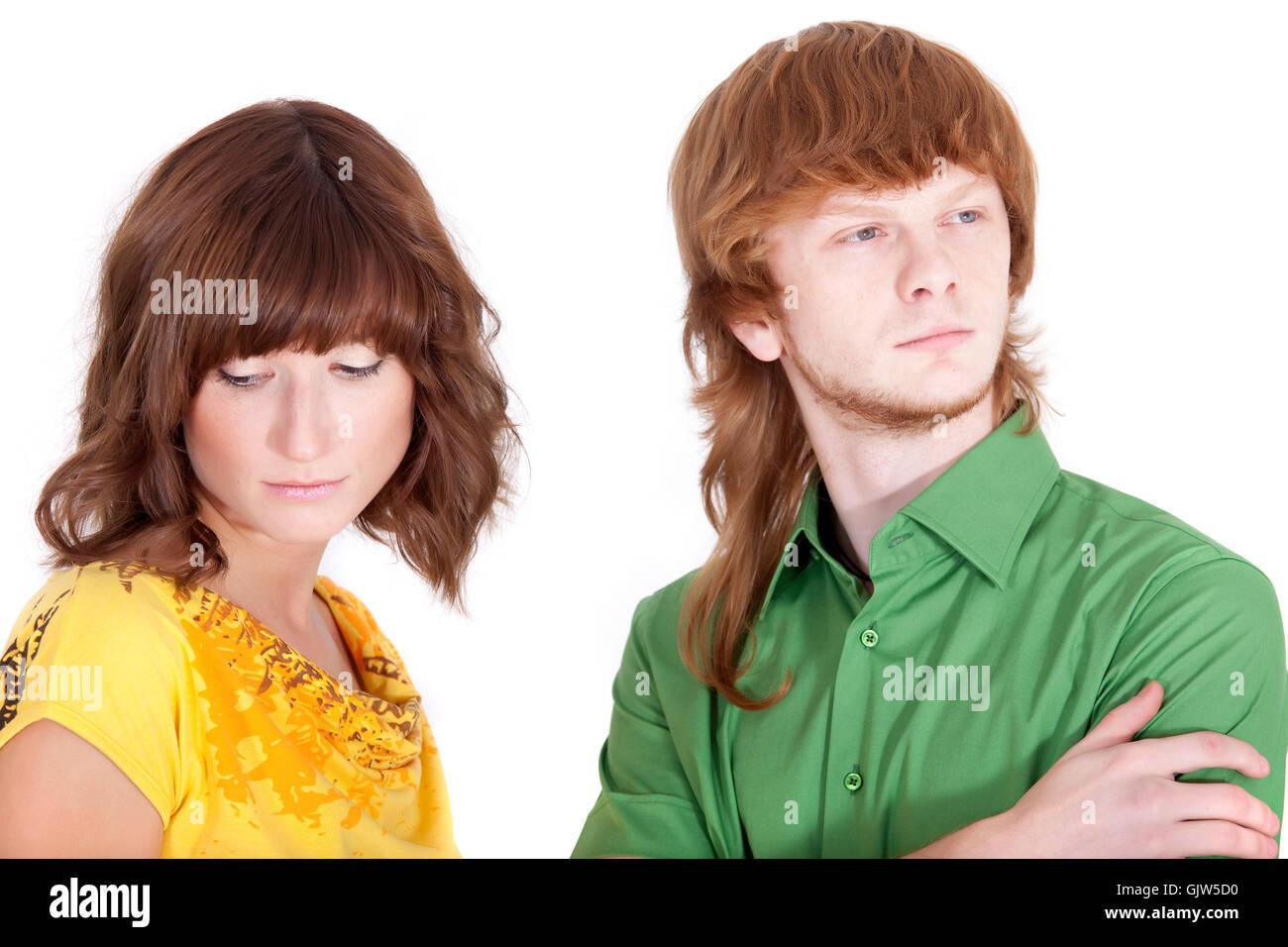 conflict quarrel jealousy - Stock Image