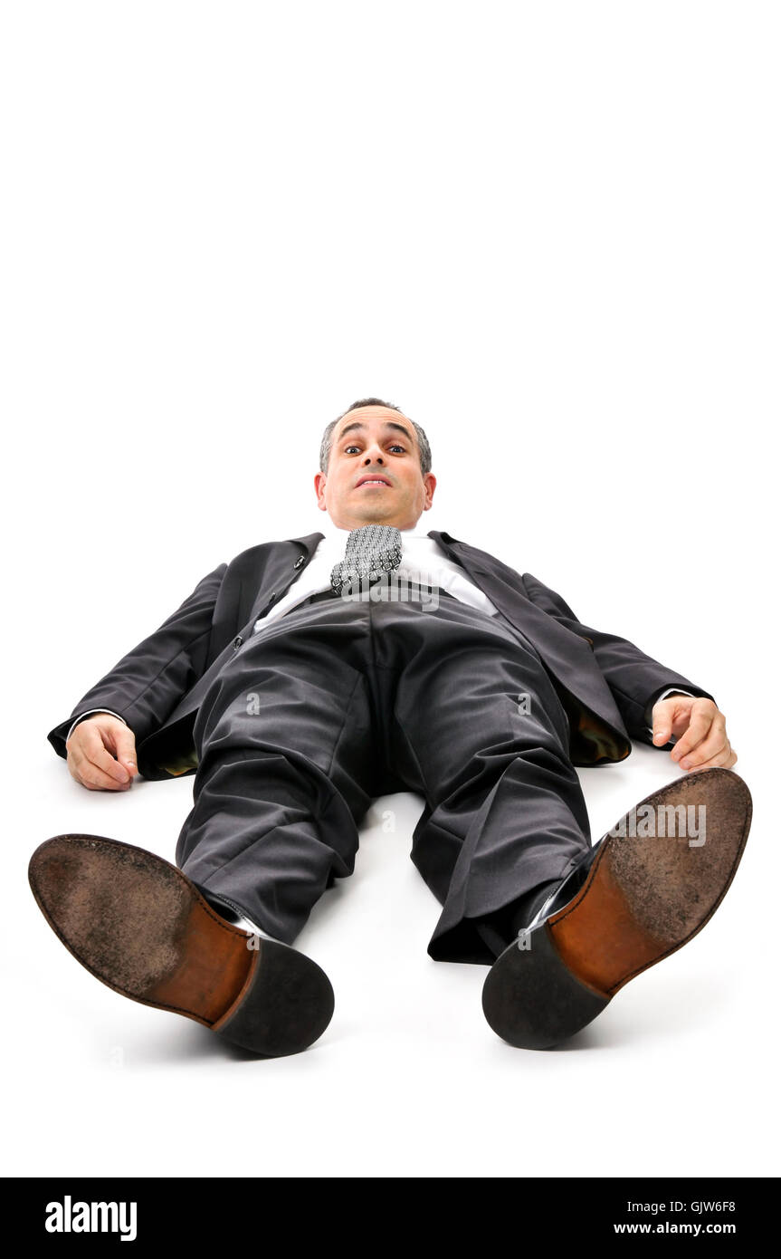 feet business man businessman - Stock Image