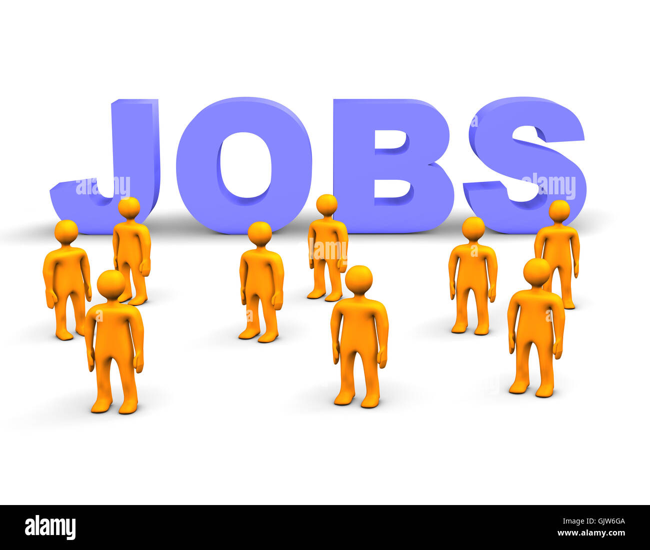 unemployment labour exchange agency - Stock Image