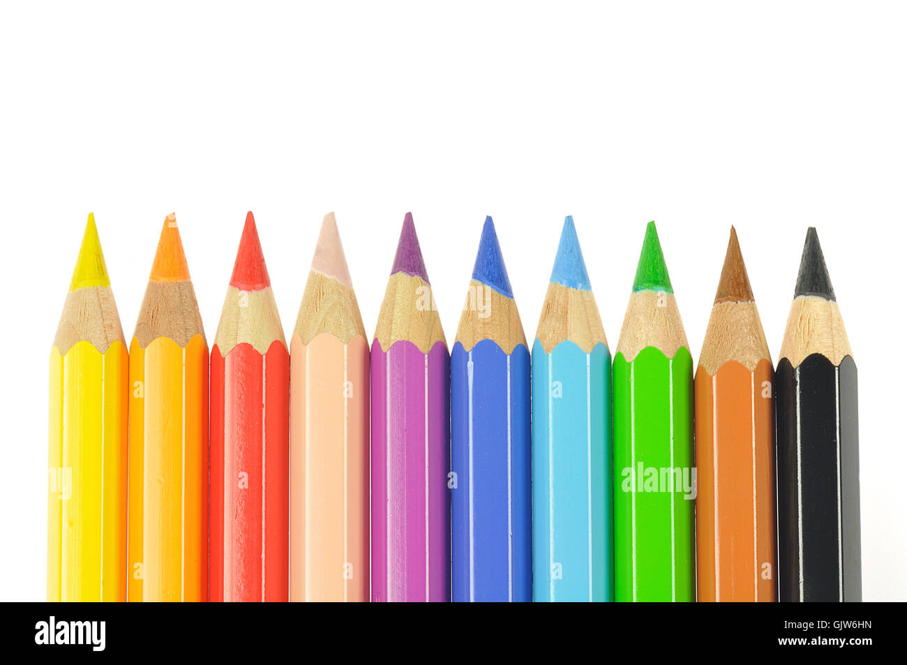 colored pencils coloured pencil coloured pencils - Stock Image