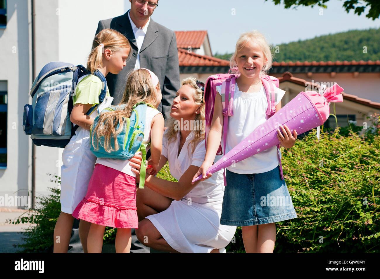 pupil schoolgirl schoolchildren - Stock Image