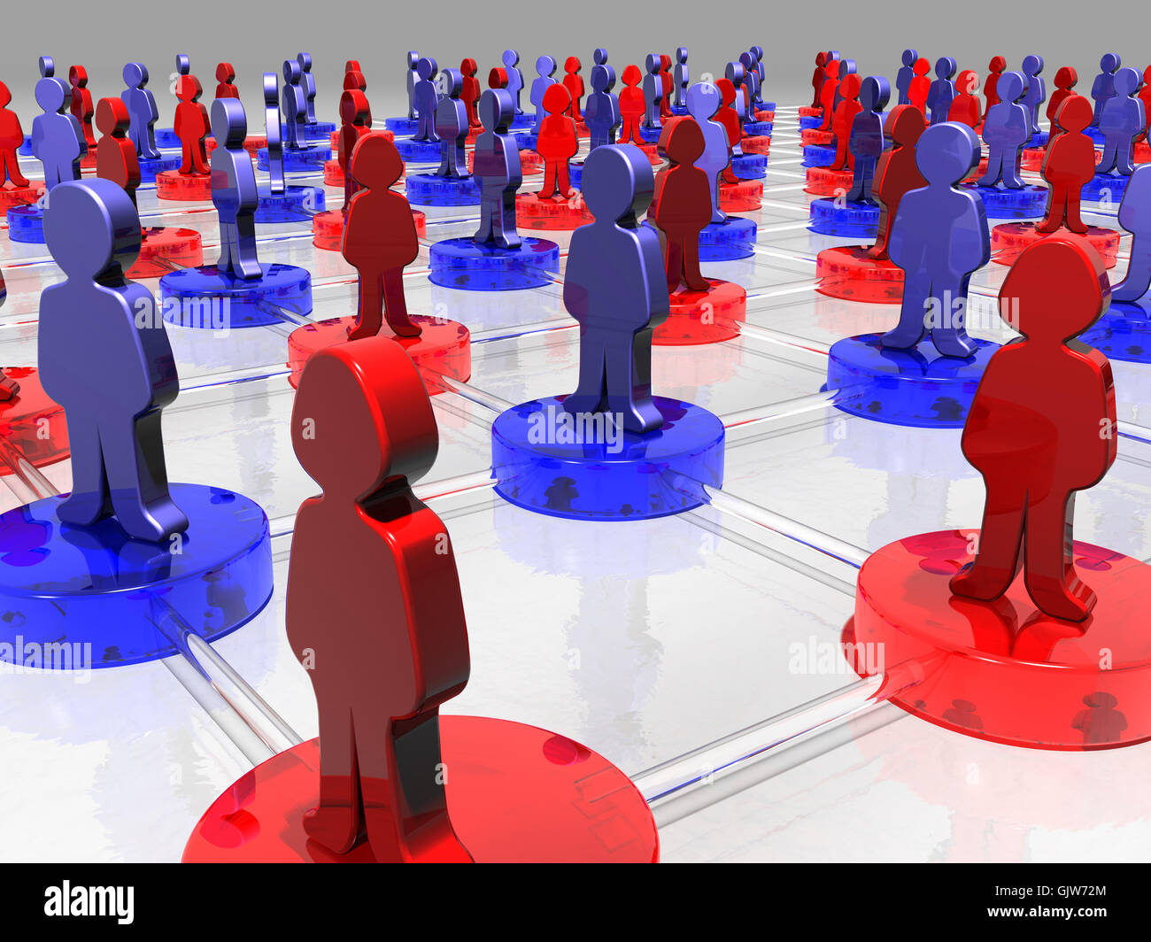 net contacts influence - Stock Image