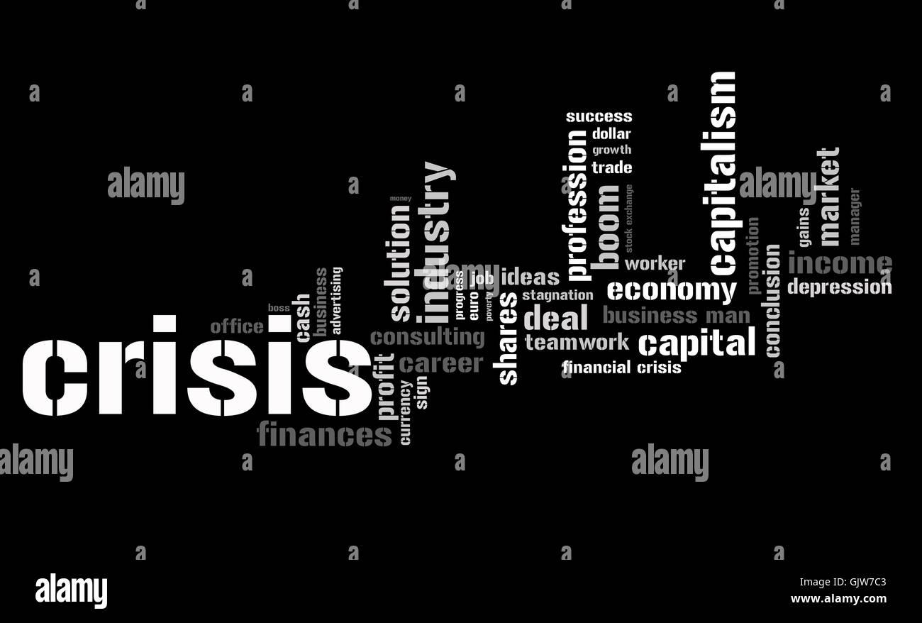 economic crisis - Stock Image