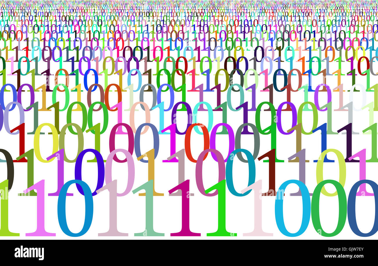 numbers,digits,binary - Stock Image