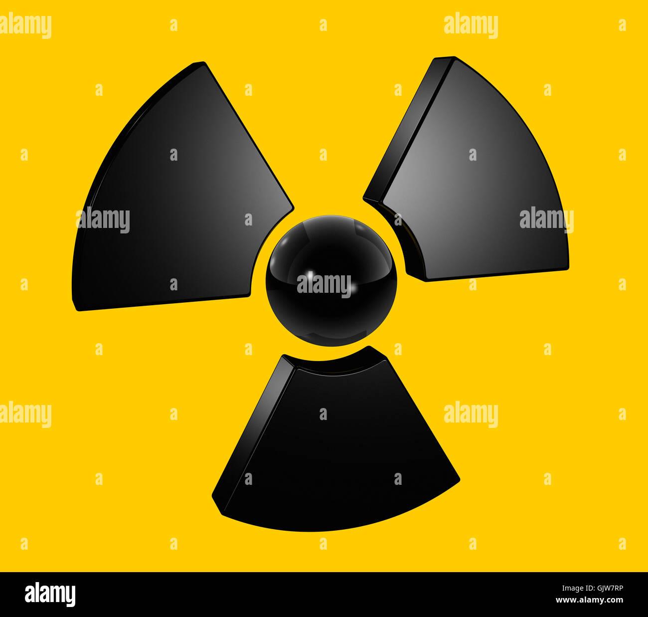 Nuclear Radiation Hazard Symbol Stock Photos Nuclear Radiation