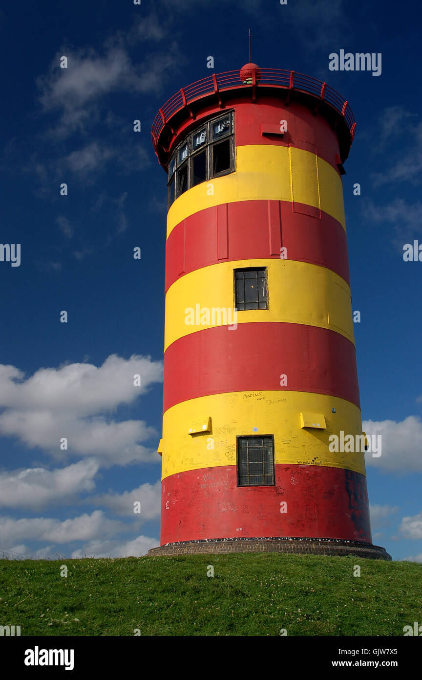 worms eye water north sea - Stock Image